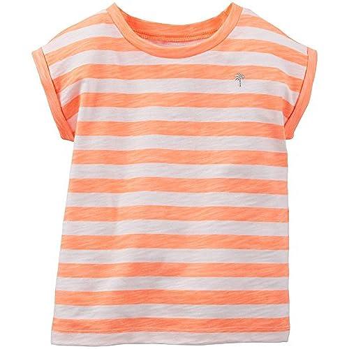 striped t-shirt Orange