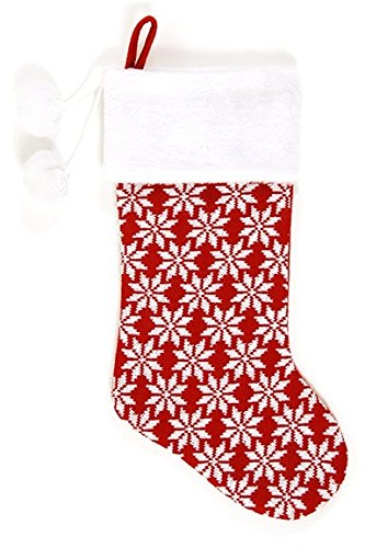 DDI 2127642 Knitted Christmas Stocking with Pom Poms - Case of 36