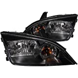Anzo USA 121229 Ford Focus Black Clear Headlight Assembly - (Sold in Pairs)