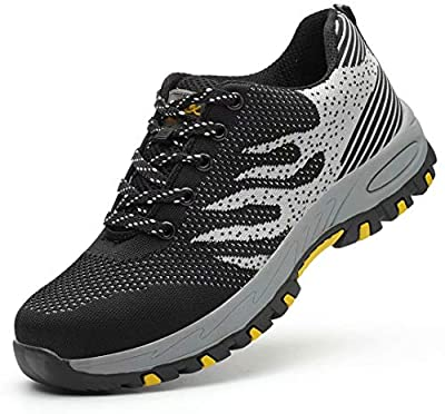 ODOUK Work Shoes Steel Toe Safety Sneakers for Men Women Outdoor Hiking Trekking Trail Shoe