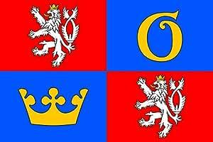 Hradec Králové Region Flag | landscape flag | 0.06m² | 0.65sqft | 20x30cm | 8x12in for Diplomat-Flags Car Flag Poles
