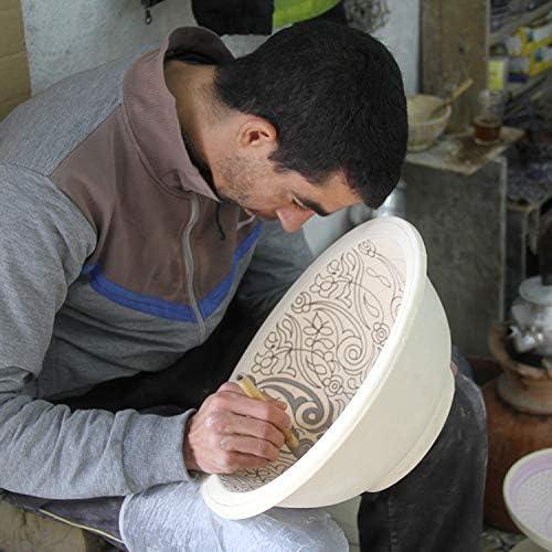 Oriental peinte /Ø 35/cm Lavabo Handmade handgetoepfert Lavabo en c/éramique fait /à la main fes75/