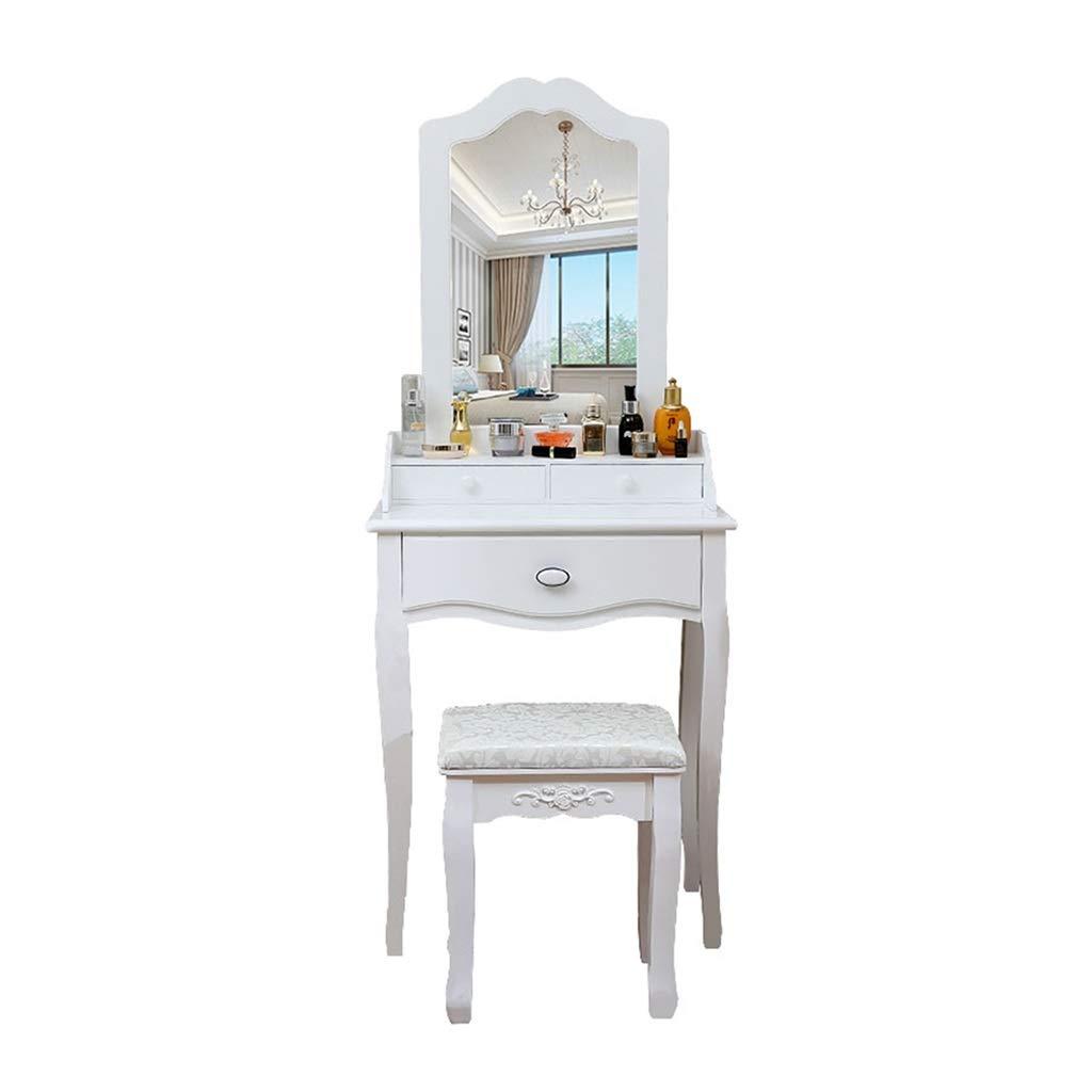 簡単な化粧台、白い丈夫な化粧台学生の女の子の化粧台寝室の化粧台 (サイズ さいず : 60 cm 60 cm) B07Q1P843Y  60 cm 60 cm