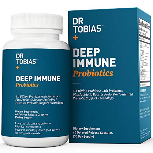 Dr Tobias Deep Immune Probiotic - Plus Ultimate Prebiotic (Patented) - Shelf Stable (Best Multivitamin For Immune System)