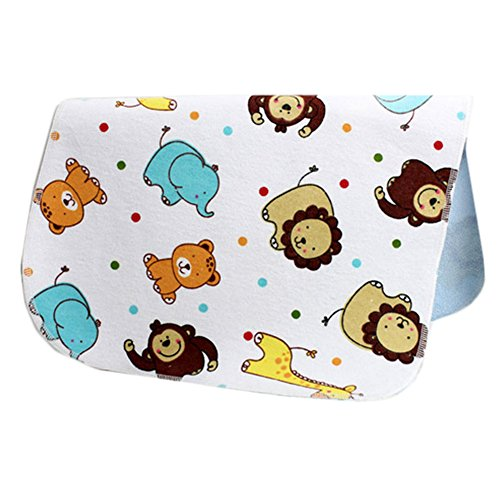 [1927 Inch] Lovely Waterproof Breathable Baby Urine Pad-Lion and Dot