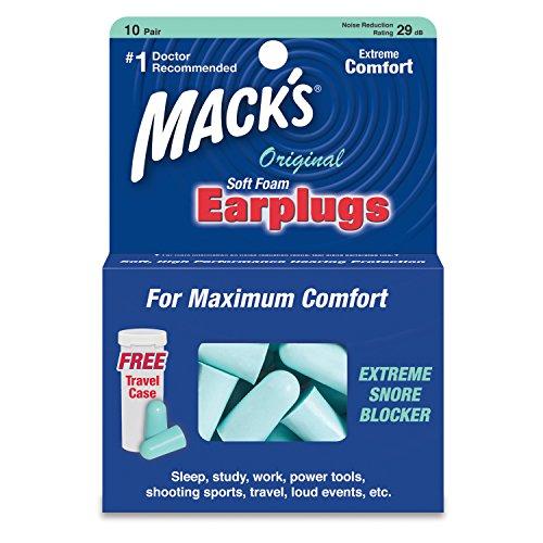 Mack's Original Soft Foam Earplugs, 10 Pair - Mack 10 Gun