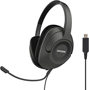 Koss SB42 USB Communication Headset | Microphone | Detachable Cord Design | Full Size Over-Ear Headphone