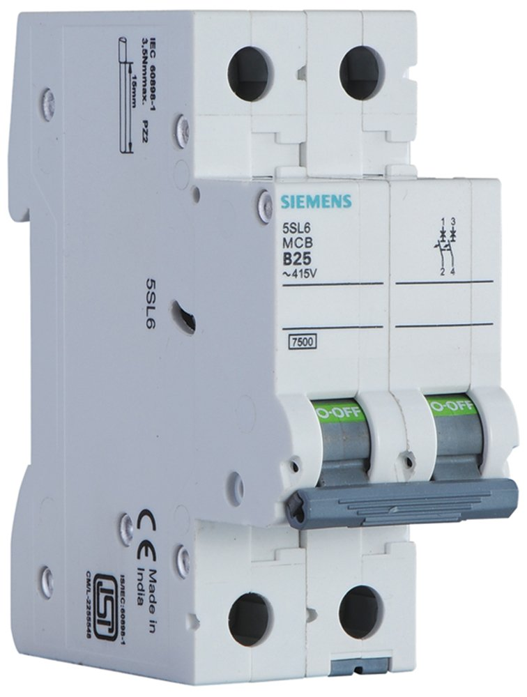 Siemens 32A 2 Pole Miniature Circuit Breaker (White, 1-Piece ...