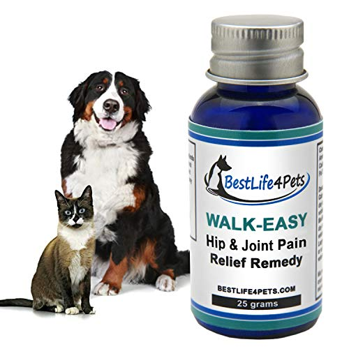 Walk-Easy Hip and Joint Supplement for Dogs and Cats; Advanced Anti-inflammatory Pain Relief Homeopathic Treatment Takes The Pain Away, Provides Leg and Knee Support, Eases Your Pet's Arthritis Pain