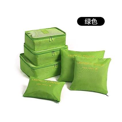 6 unids Conjunto de bolsas de almacenamiento de viaje Ropa ...