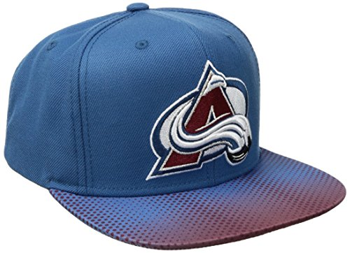 fan products of Reebok NHL Colorado Avalanche Adult Men NHL SP17 Two Tone Flat Brim Snapback Hat,Osfa,Blue