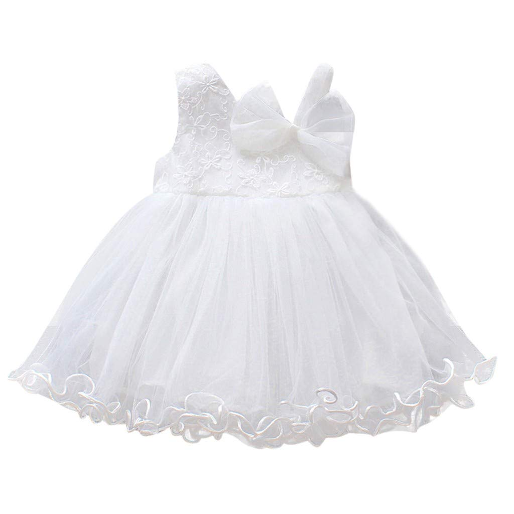 Toddler Girls Spring Princess Party Dress Vinjeely Cute Floral Bow Sleeveless Lace Tutu