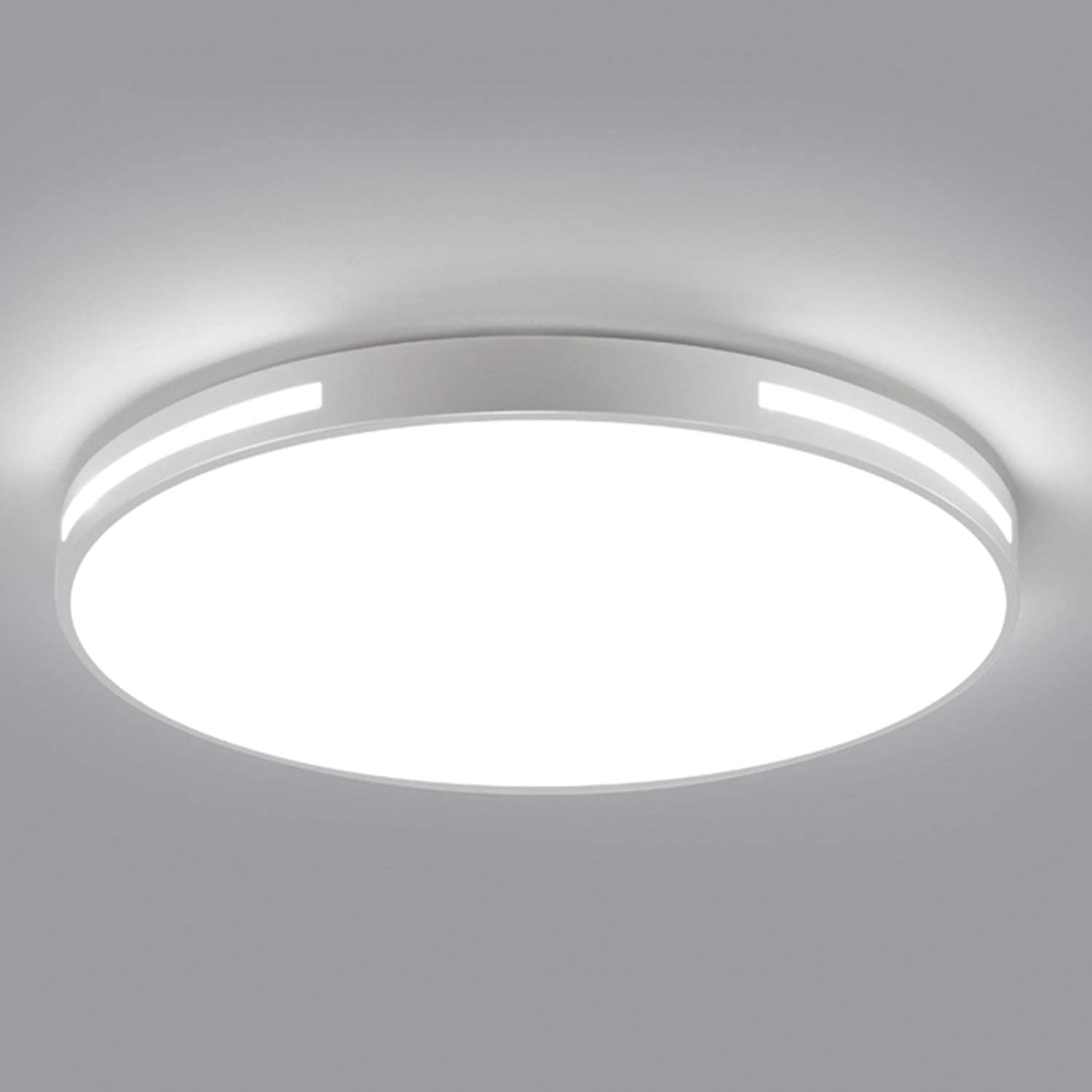 Ganeed Led Flush Mount Ceiling Light 12 Inch Led Ceiling Lighting Fixture Round Hollow 18w 6500k Cool White Ceiling Lamp For Dining Room Hallway Living Room Kitchen Bedroom Porch White Amazon Com