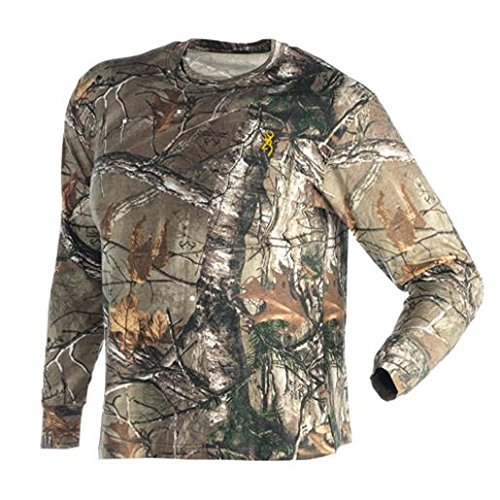 Browning 3011262404 Wasatch Long Sleeve T-Shirt, Realtree Xtra, X-Large