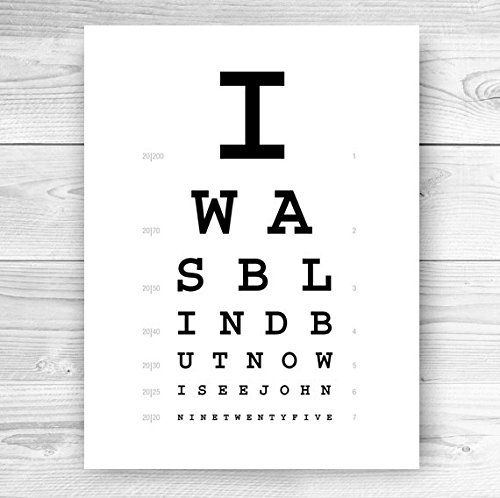 Amazon Eye Chart Christian Art Print Handmade