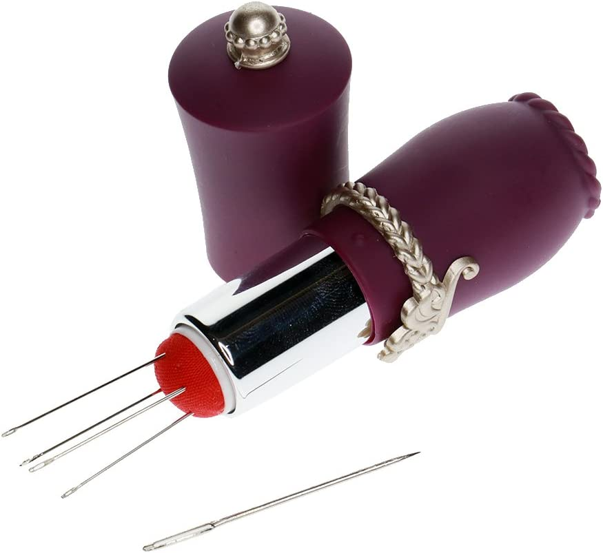 Gazechimp Set de 5pcs Aiguille /à Coudre avec Coussin DAiguille en Forme de Rouge /à L/èvre Accessoire de Couture DIY Violet