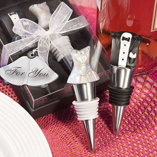 Bride Groom Wine Stopper Set