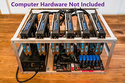 6 GPU Open Air Case for Crypto Currency Mining Rig Frame by MKU LLC (Image #3)