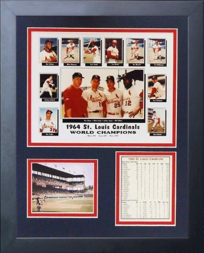 Legends Never Die 1964 St. Louis Cardinals Framed Photo Collage, 11x14-Inch by Legends Never Die