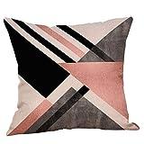 Pillowcase,Hot Sale! Hongxin Geometric Printed Cotton Linen Throw Pillow Cases Sofa Cushion Cover Home Decor (A)