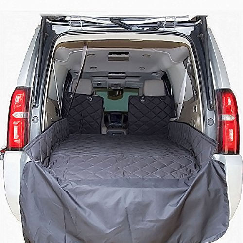 Plush Paws Refined Cargo Liner for Dogs - XL Black, Waterproof & NonSlip Silicone Backing for Trucks & Suv's - Suv Cargo Protection
