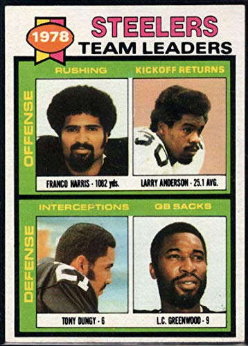 - Football NFL 1979 Topps #19 Franco Harris/Larry Anderson/Tony Dungy/L.C. Greenwood TL Steelers