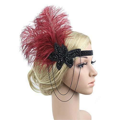 iNoDoZ Women's 1920s Vintage Hair Bands Headpiece Feather