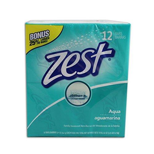 Zest Aqua Bar Soap, 5-Ounce, 12-Count
