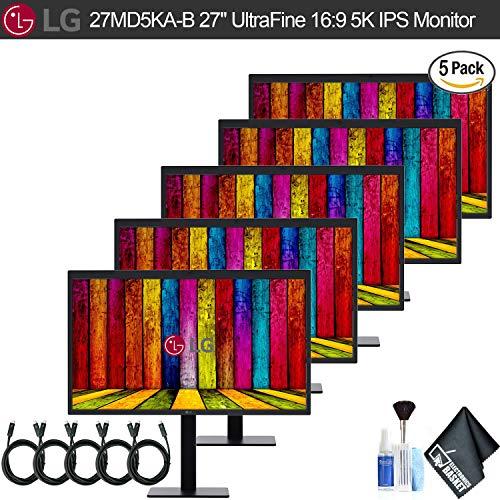 "LG 27MD5KA-B 27"" Ultrafine 16:9 5K IPS Monitor (27MD5KA-B) 5 Monitor Bundle Set, with 6.6"