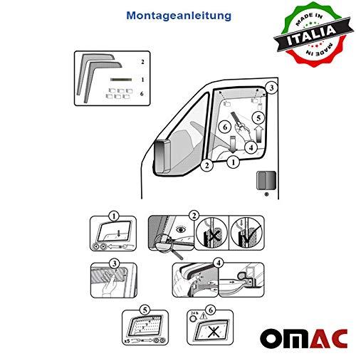 Omac GmbH Windabweiser Regenabweiser Satz 2 Teileg vorne