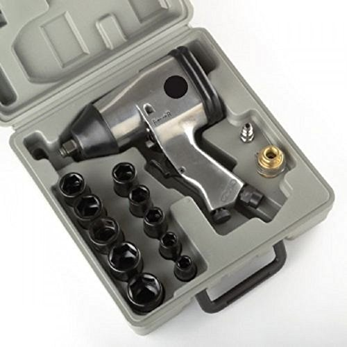 NEW 17pc 1/2'' Air Impact Wrench Gun Kit w/ Sockets and Case METRIC by Jikkolumlukka