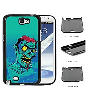 Extremely Bruised Zombie Cartoon Portrait Hard Plastic Snap On Cell Phone Case Samsung Galaxy Note 2 II N7100