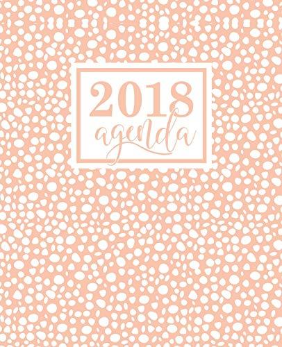 Agenda: 2018 Agenda Settimanale Italiano: Avorio Su Rosa: 19x23cm