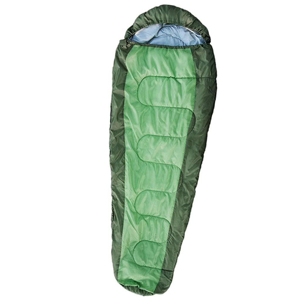 Vert épais Baoblaze Sac de Couchage en Coton Compatible Hiver Chaud Camping Extérieur Voyage