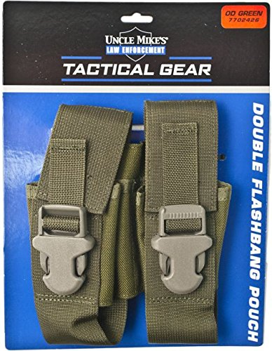 Uncle Mike's Molle Compatable Double Flashbang Pouch, OD Green