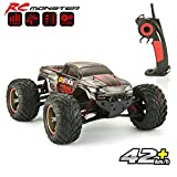 GoStock Remote Control Car, 1:12 Scale RC Cars Monster Truck Off Road Electric Fast Buggy 2.4G High Speed of 42 km/h All Terrain Remote Controlled Car for Kids Adult Outdoors