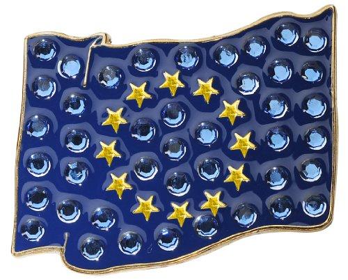 Navika European Union Flag Swarovski Crystal Ball Marker with Hat Clip