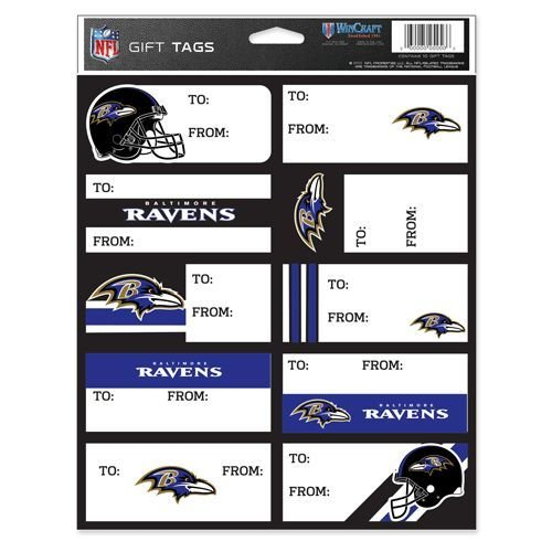 Paper Baltimore Ravens (WinCraft NFL Baltimore Ravens Gift Tags, Team Color, One Size)