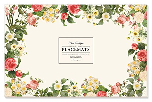 Faux Designs Paper Placemats - Posy (Floral High End Faux Arrangements)