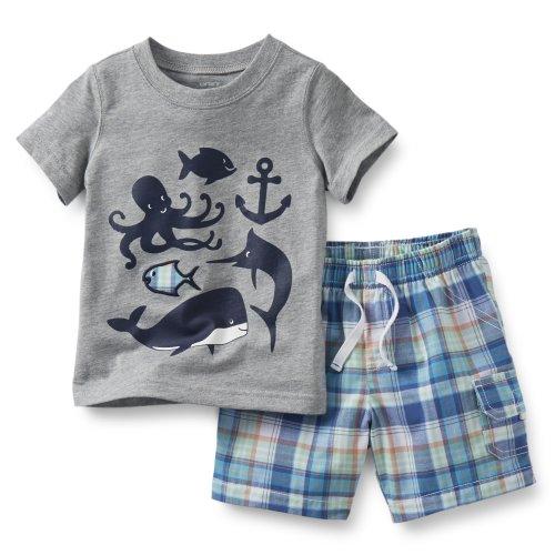 Carter's Sea Life Tee & Plaid Shorts Set (3 (Sea Life Short Set)