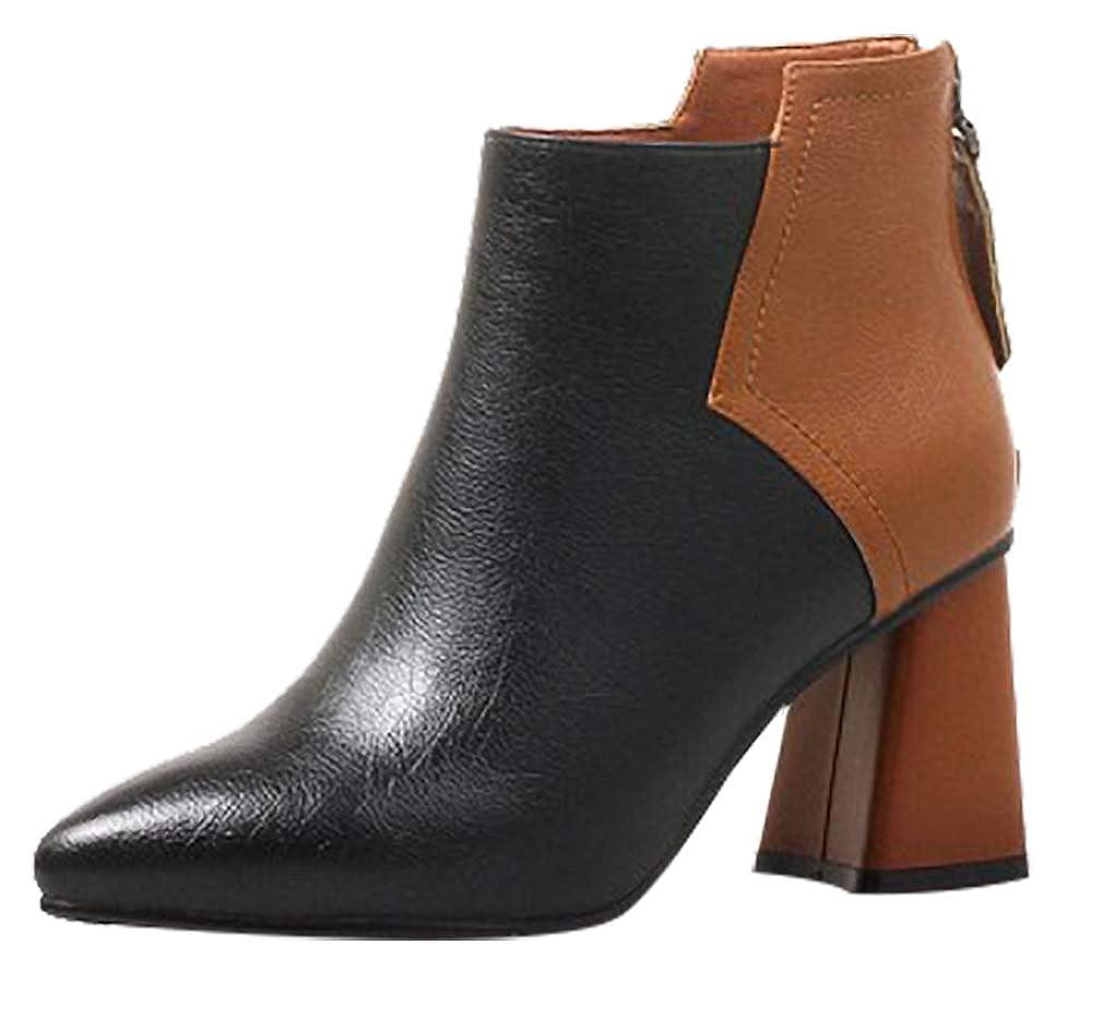 Calaier Damen vjiego 7CM Blockabsatz Reißverschluss Item_Type Schuhe