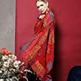 PURL.SHINE India Hand Woven Nepal 100% Boiled Wool EMBROIDERY EXQUISITE PLANT DYESTUFFS Phoenix Nirvana Beading Scarf Shawl Wraps