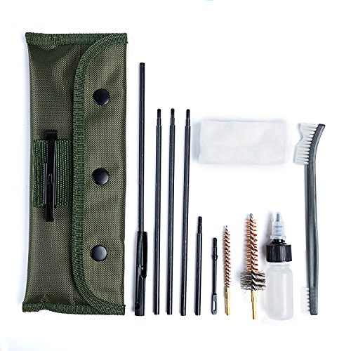 Buttstock Guide - NIDAYE .223/5.56 M16 and AR-15 Cleaning kit - Field Cleaning Kit for All M16/AR-15/M4 Rifle Gun Mil-Spec Quality with Olive Green Bag