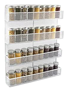 Esylife 4 Tier Wall Mount Spice Rack Organizer Large
