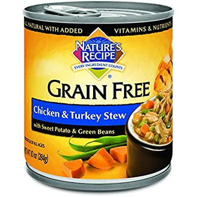 Nature's Recipe Grain Free Wet Dog Food Stew Formula, 10 Ounce Cans