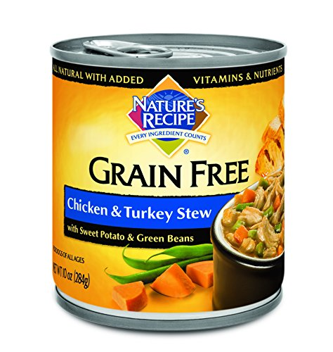Nature's Recipe Grain Free Wet Dog Food Chicken & Turkey Stew (12 Pack), 10 Oz