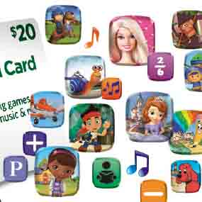 Redeem your $20 LeapFrog App Center Download Card online and download new content in minutes!