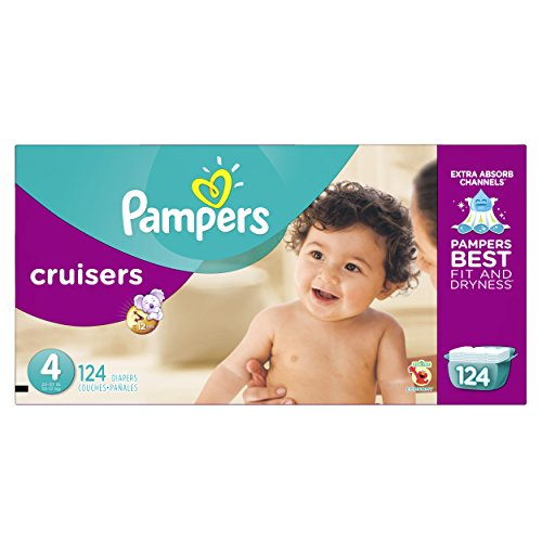 Pampers Size 4 Cruisers Diapers, 124 Count
