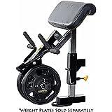 Powertec Fitness Workbench Curl Machine Accessory, Black