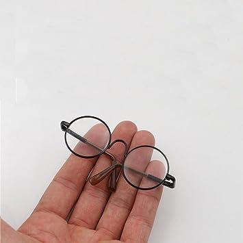 Round Frame Clear Lens Eyewear Glasses for 12/'/' Blythe Dolls Accessory HI